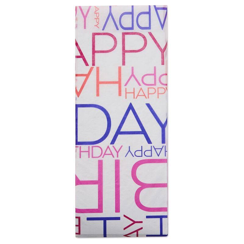 Hallmark Multi-color Happy Birthday Tissue Paper