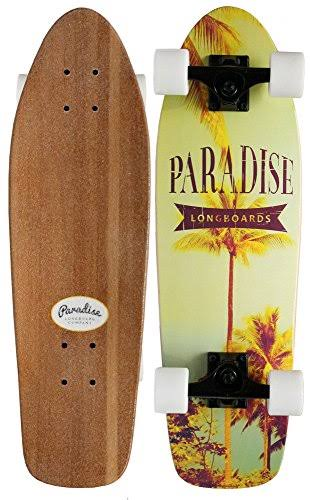 "Paradise Instapalm Cruiser Complete Skateboard - Yellow, 8"" x 26.75"""