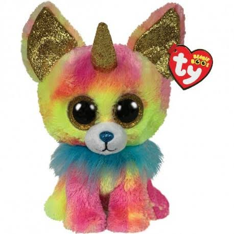 Ty Medium Beanie Boo Yips The Chihuahua with Horn