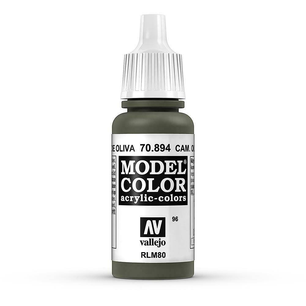 Vallejo Model Color Acrylic Paint - Camouflage Olive Green, 17ml