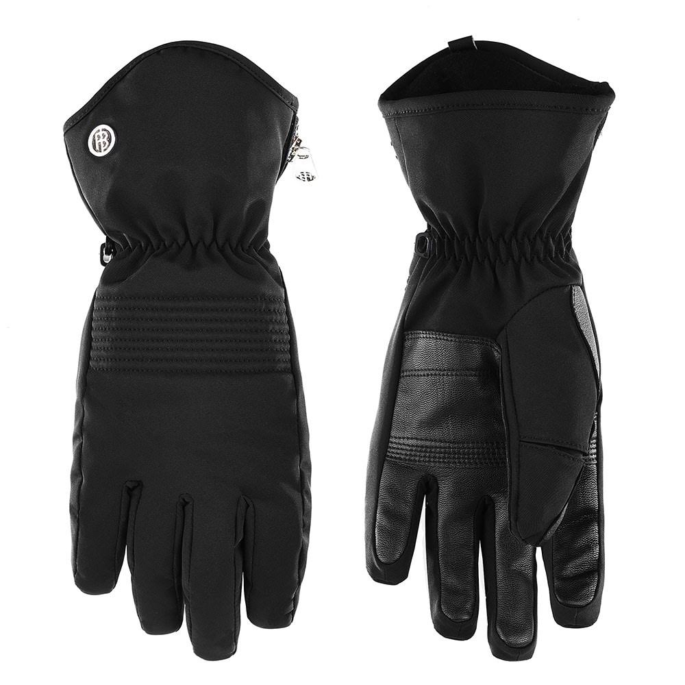 Poivre Blanc Women's Stretch Ski Gloves - S, Black