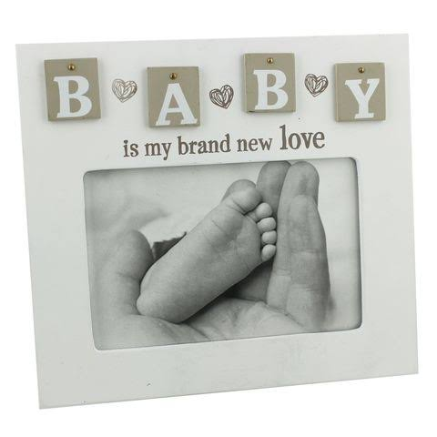"""Baby Is My Brand New Love"" Unisex Tile Photo Frame"