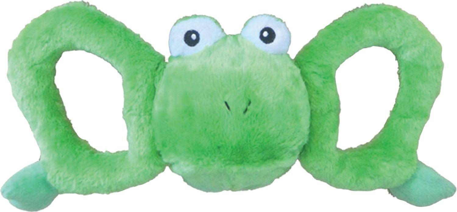 Jolly Pets Tug a Mals Frog - Green, Large