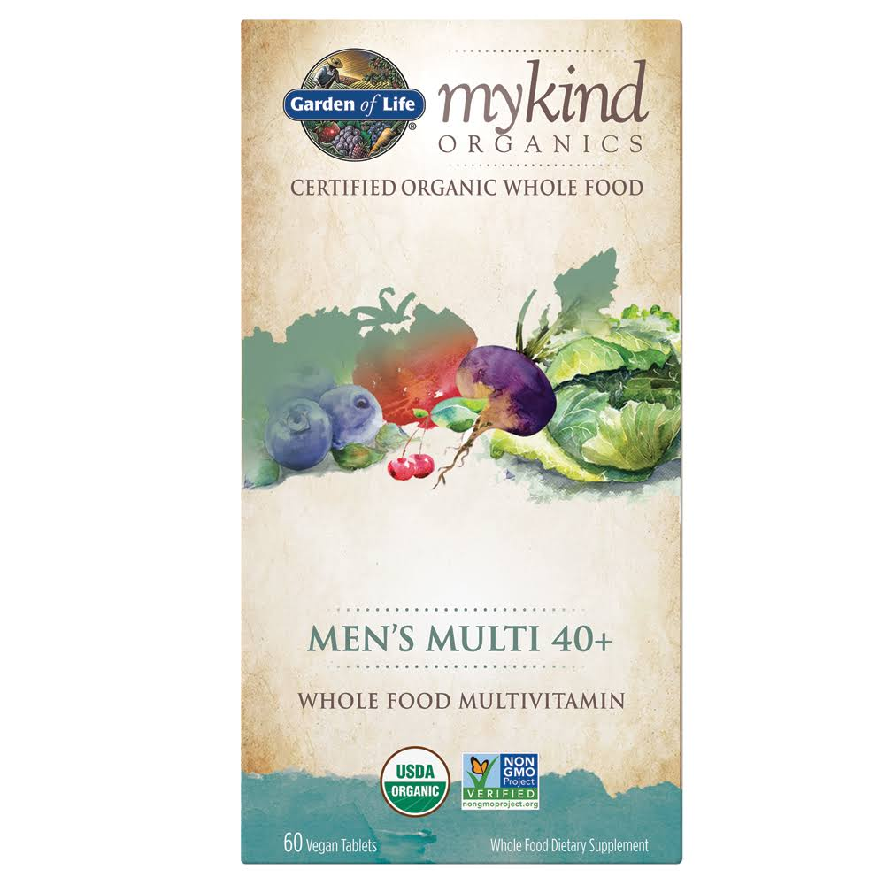 Garden of Life My Kind Organics Men's Multi 40+ Multivitamin - 60 Tablets
