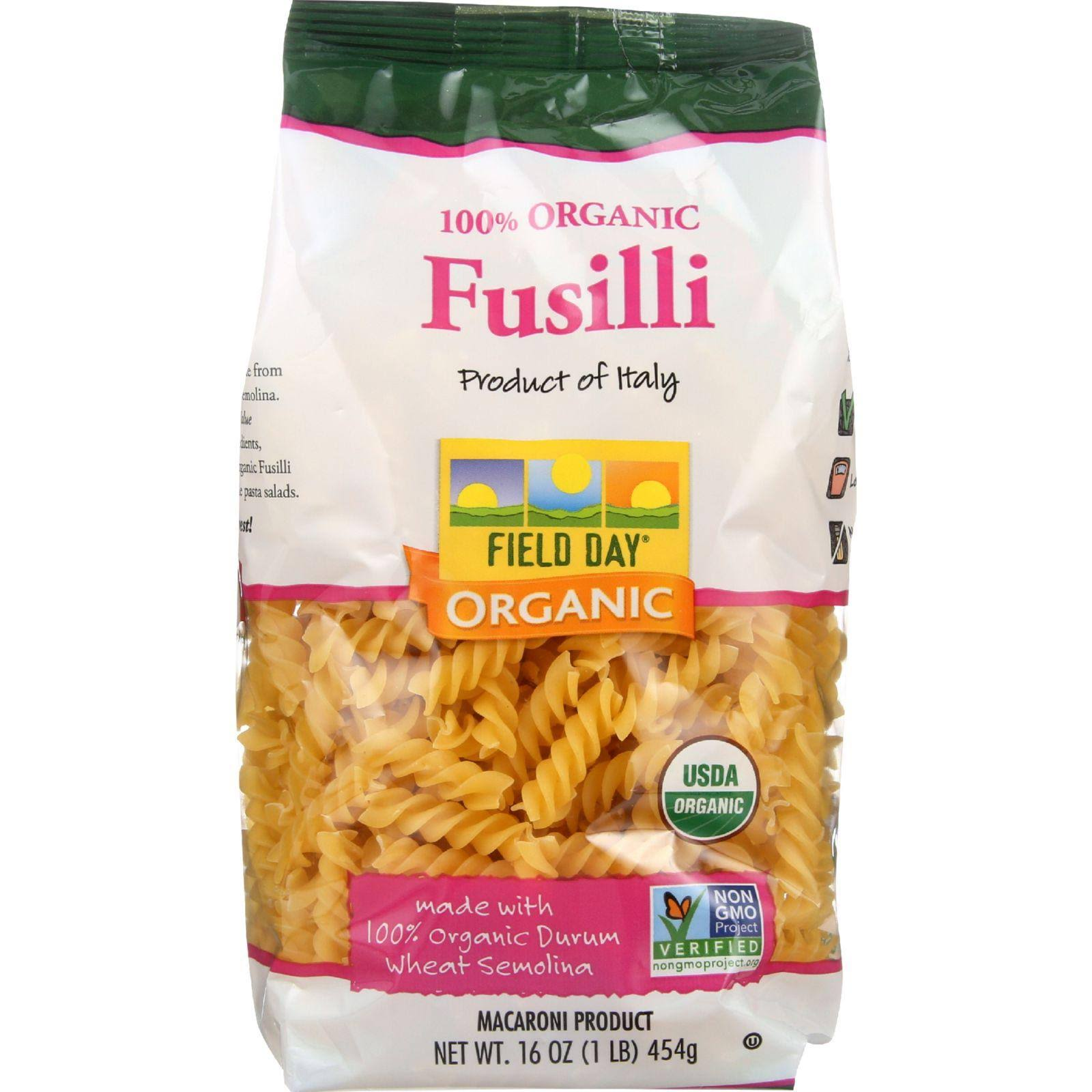 Field Day Organic Fusilli - 454g