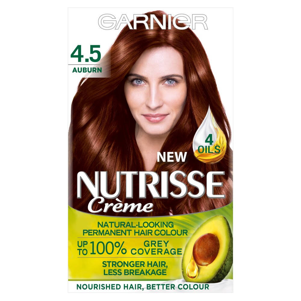 Garnier Nutrisse Cream Permanent Hair Color - 4.5 Auburn Chestnut