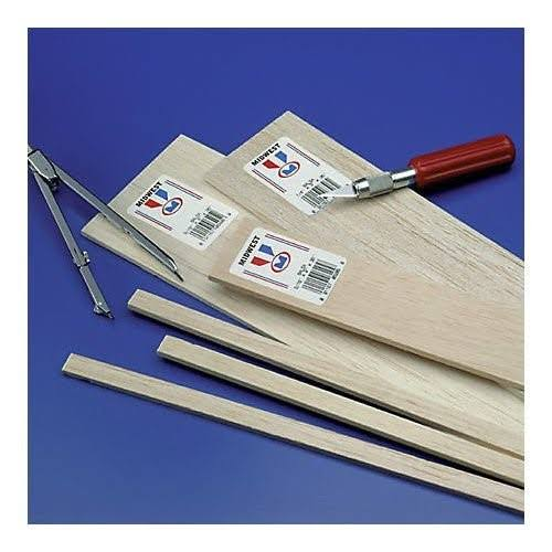 Midwest Balsa Sheets 3/8 x 6 x 36 (5) MID6608