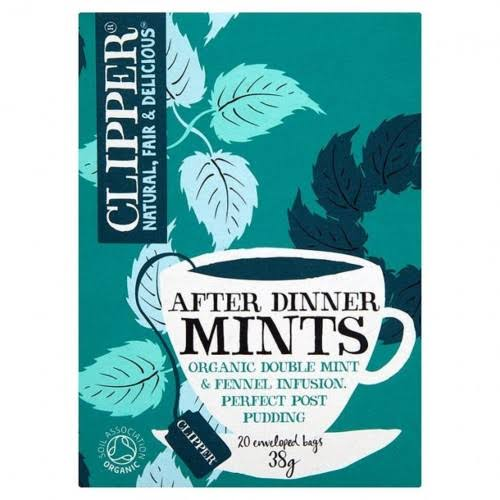Clipper Organic After Dinner Tea Bags - 38g, Mints, 20ct