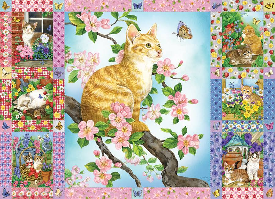 Cobble Hill Blossoms and Kittens Quilt