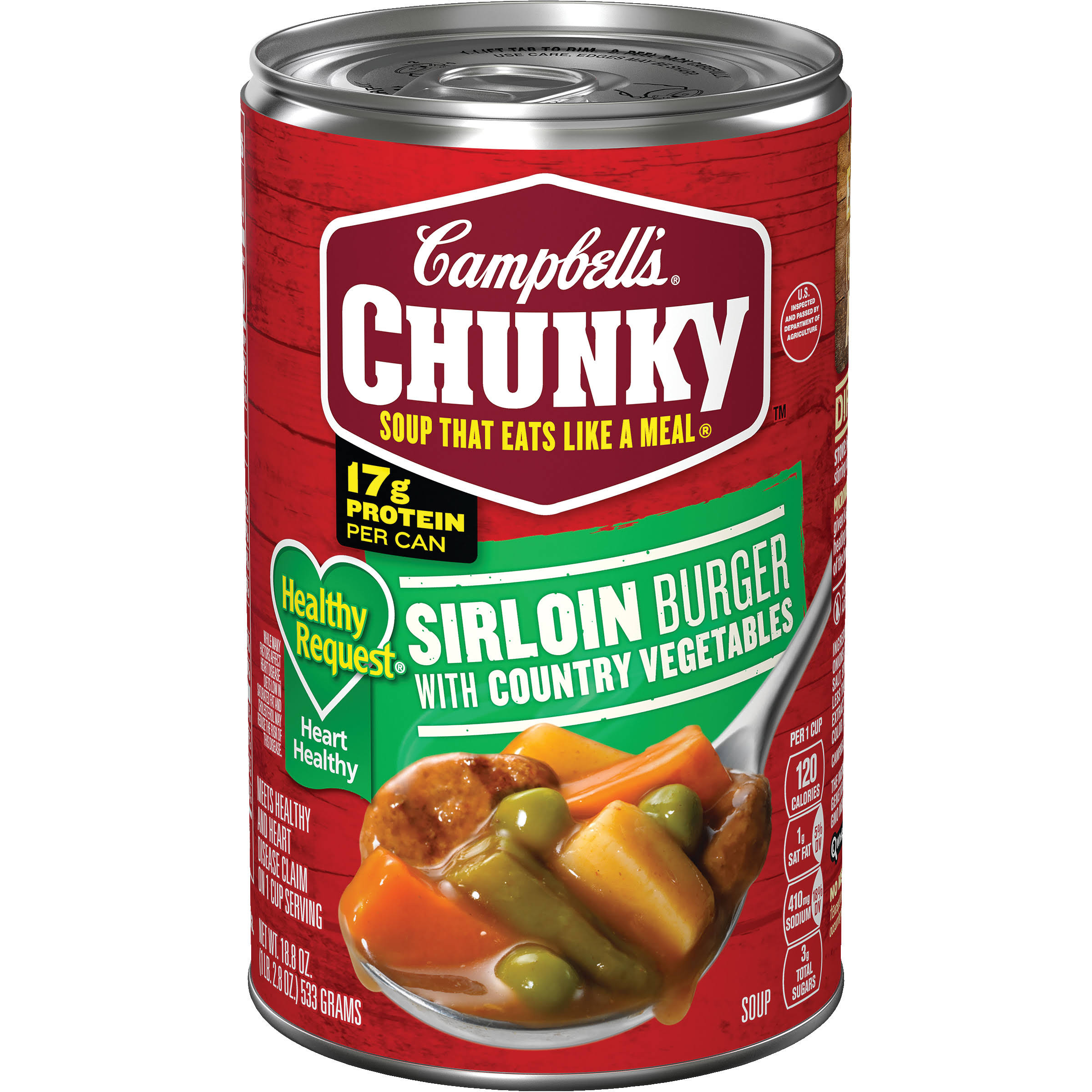 Campbell's Chunky Healthy Request Soup - Sirloin Burger With Country Vegetables, 18.8oz