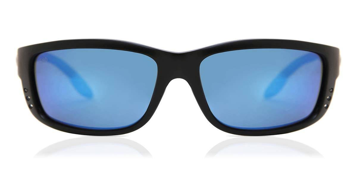 Costa Del Mar Men's Sunglasses - Matte Black and Blue Lens, 121mm