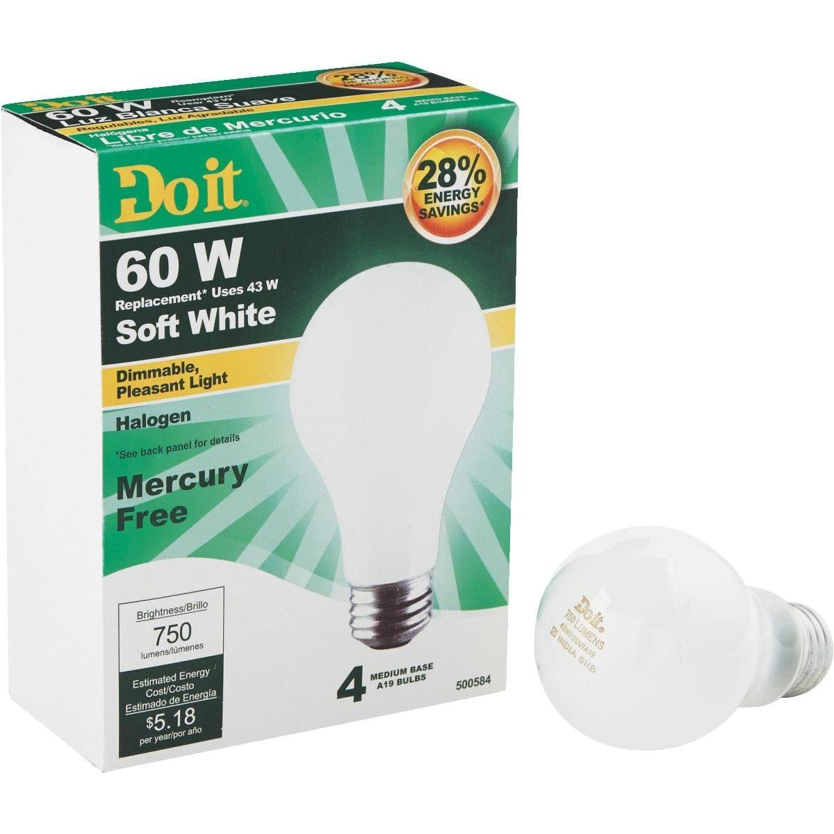 Do it Halogen Bulb - 43W, Soft White