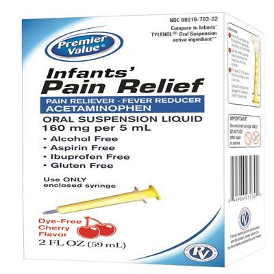 Premier Value Infant's Pain Relief Oral Suspension Liquid - Cherry, 60ml