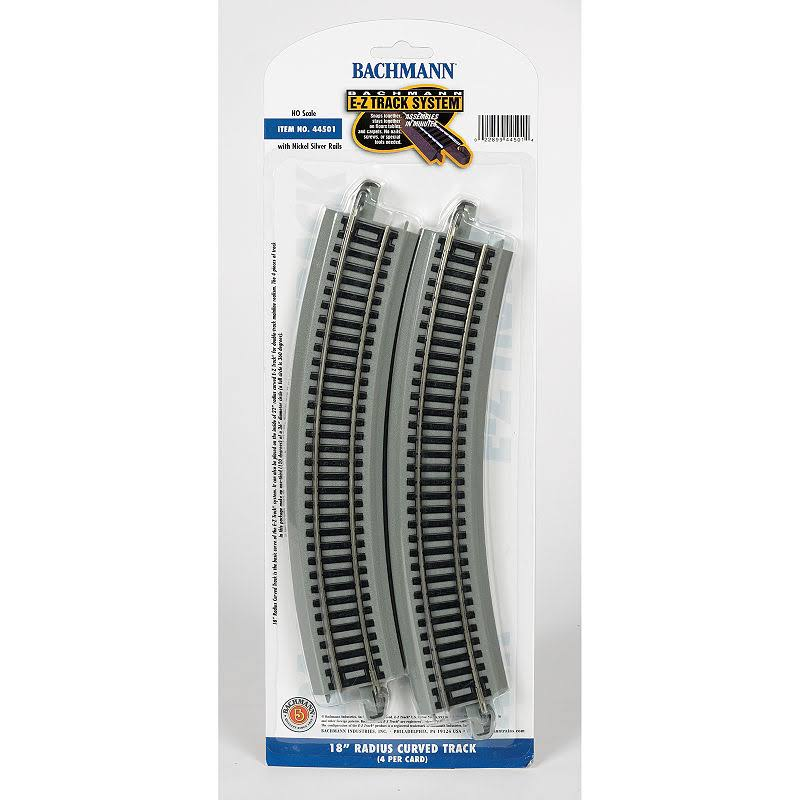 Bachmann Trains Snap-Fit E-Z Track Radius Curved HO Scale Track - 18""