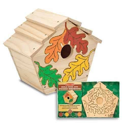Melissa & Doug Build Your Own Wooden Birdhouse