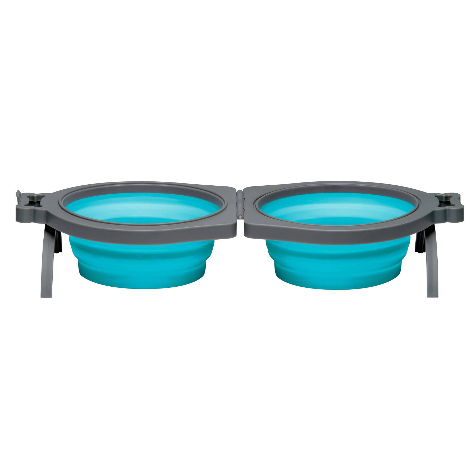 Loving Pets Blue Bella Roma Travel Double Diner Bowl - Small