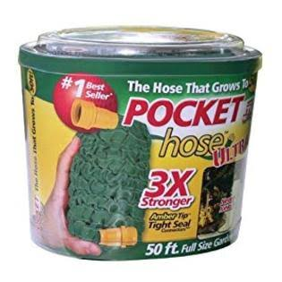 Pocket Expandable Water Garden Hose Top - 50', 3/4""