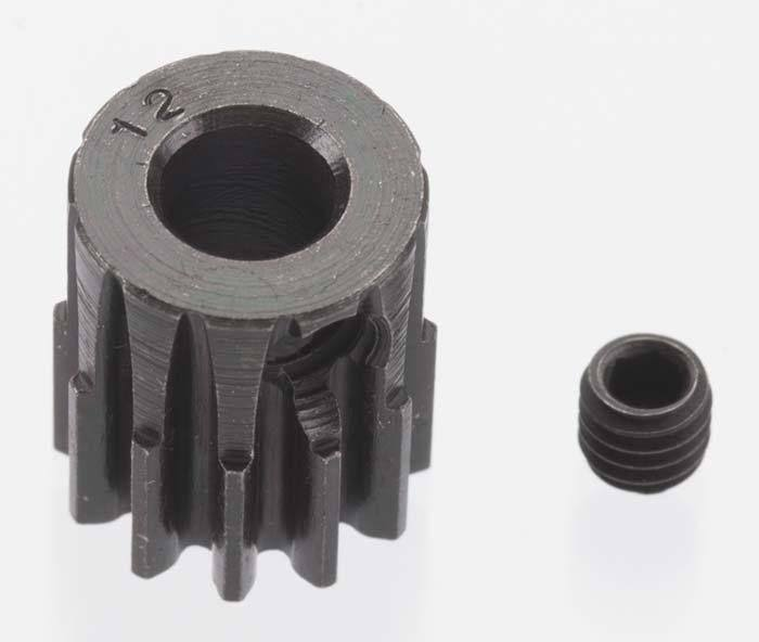 Robinson Racing 8612 Extra Hard 12T Blackened Steel 32P Pinion 5mm