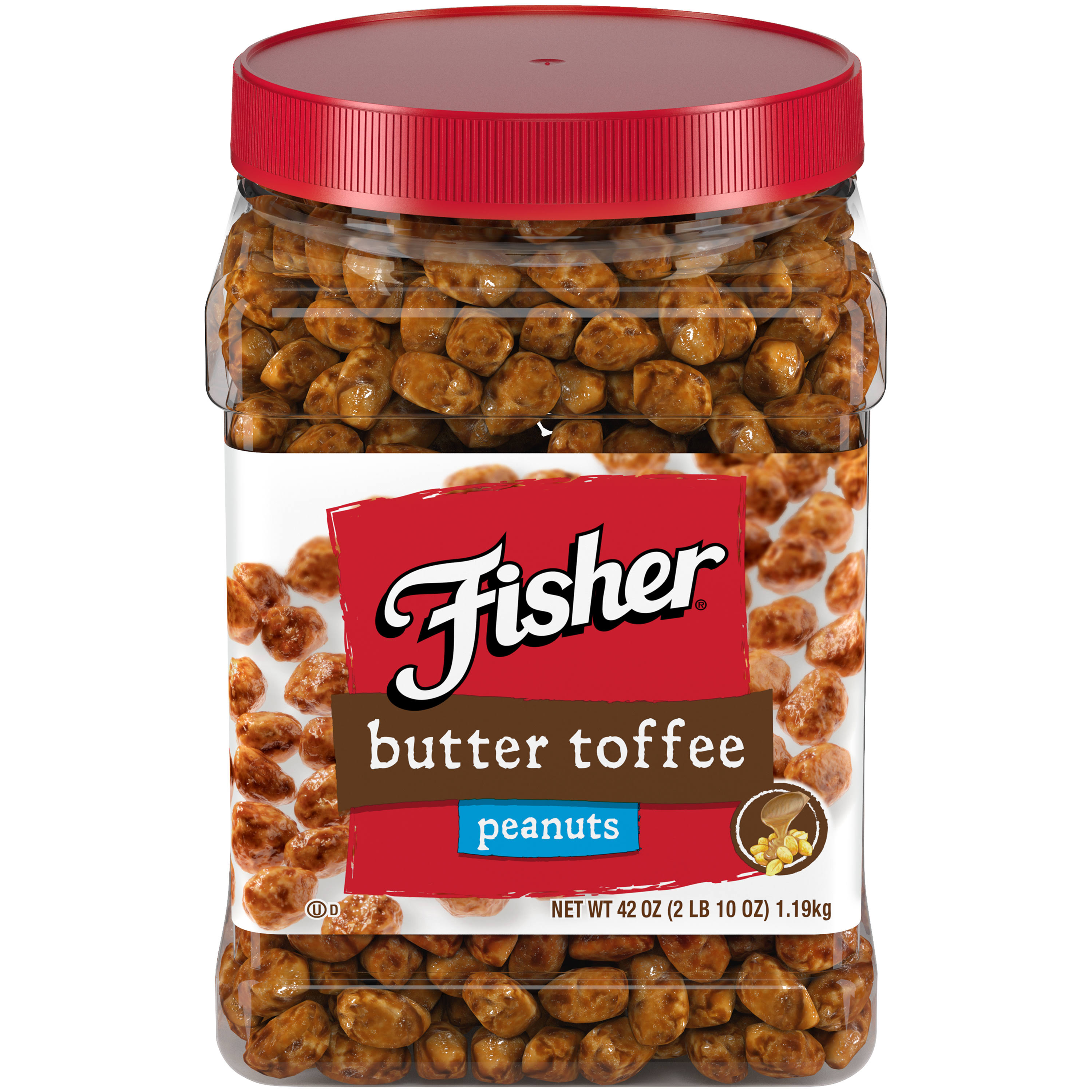 Fisher Butter Toffee Peanuts - 42oz