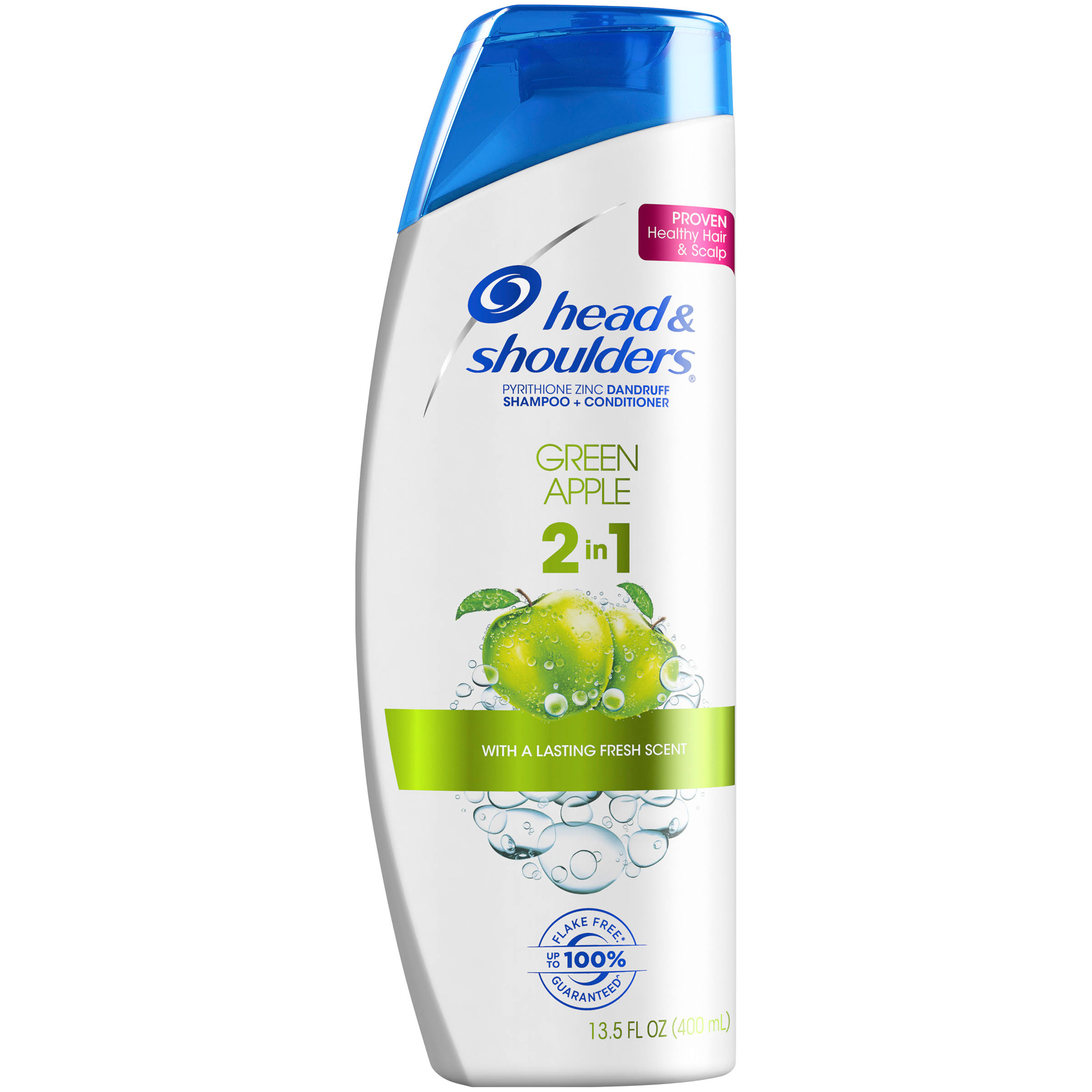 Head and Shoulders 2 in 1 Dandruff Shampoo + Conditioner - Green Apple, 13.5oz