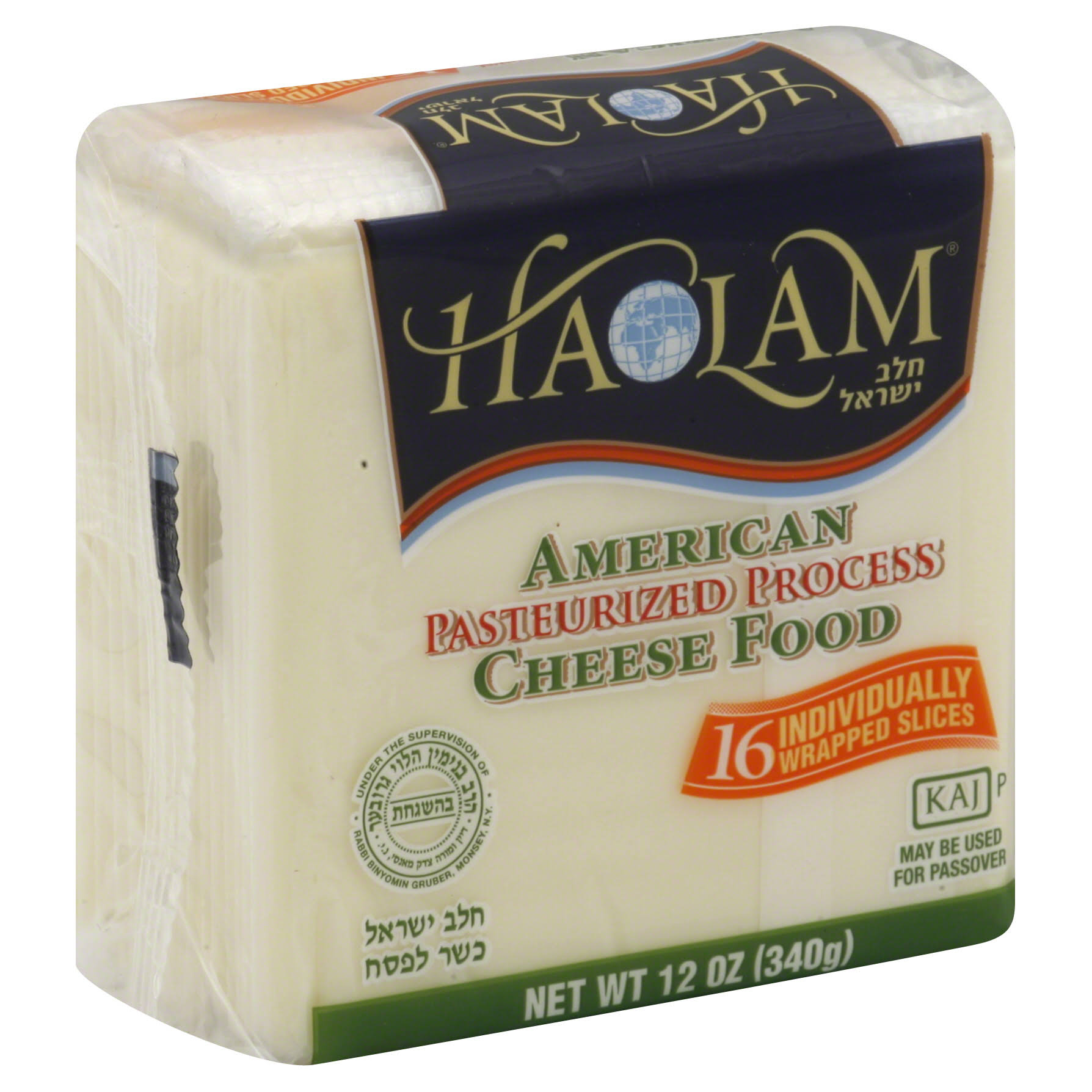 Haolam White American Cheese, Slices - 12 oz bag