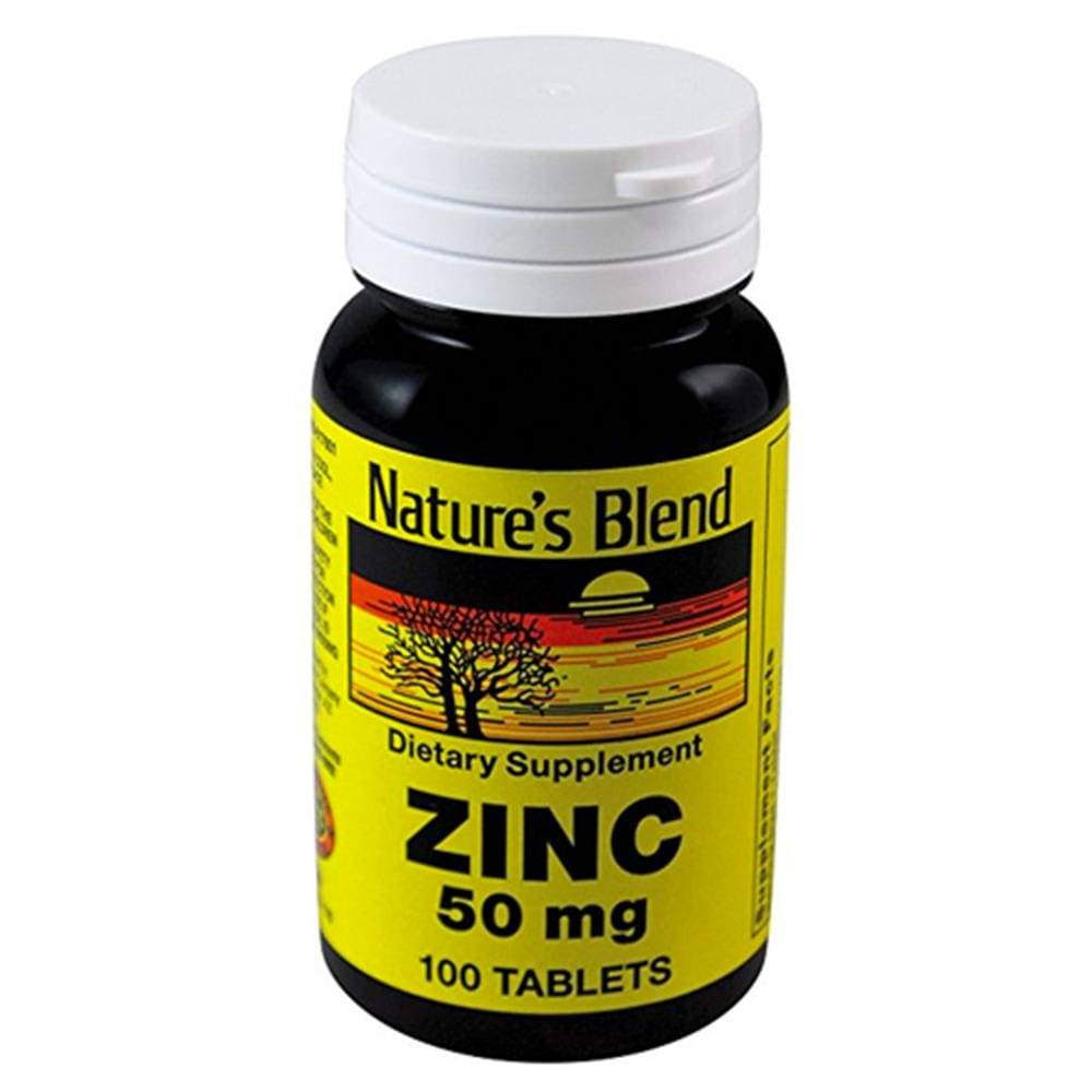 Nature's Blend Zinc Gluconate Vitamins Tablets - 50mg, 100ct