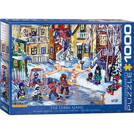 Eurographics Katerina Mertikas Jigsaw Puzzle - The Usual Gang, 1000pcs