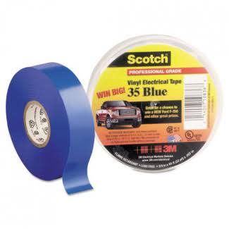 "3M Scotch Electrical Tape - Blue, 3/4"" x 66' x 0.007"", #35"