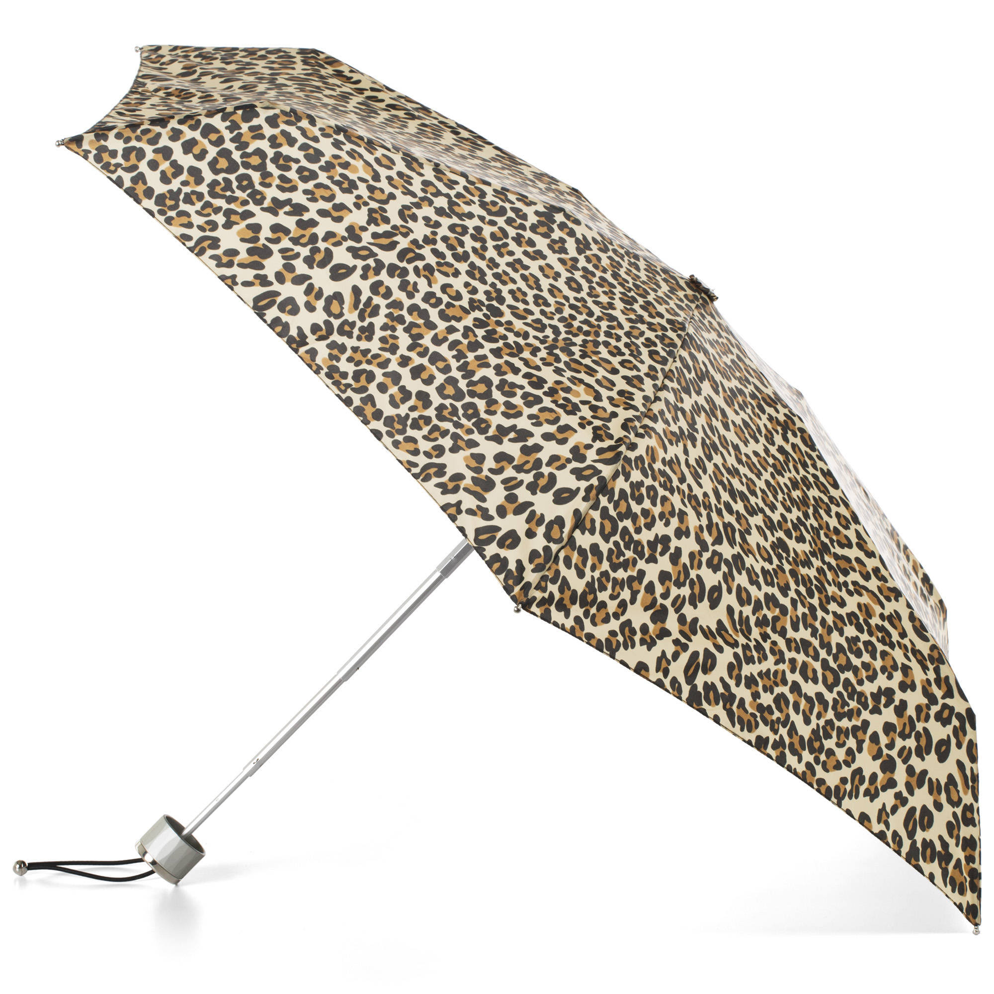 Totes Leopard Spots Mini Umbrella - With NeverWet