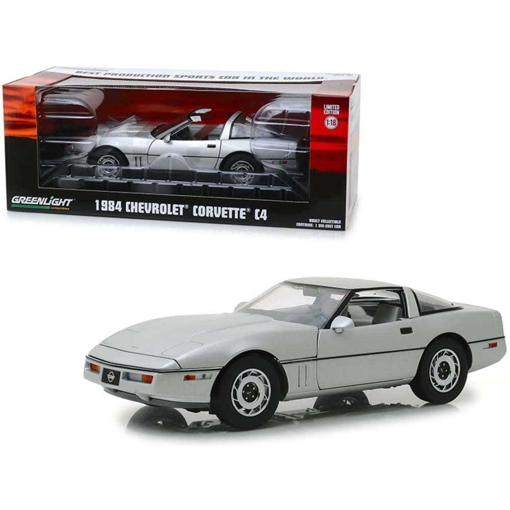Greenlight 13534 1984 Chevrolet Corvette C4 Convertible Sports Car Silver