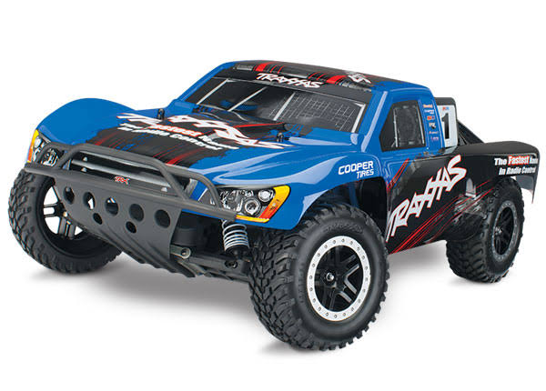 Traxxas Nitro Slash 2WD RTR Short Course RC Truck with TSM Blue