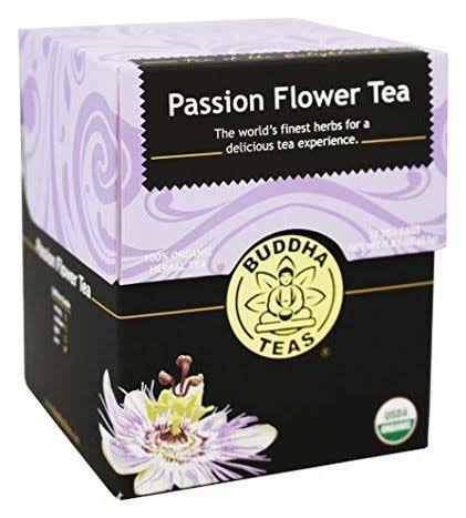 Buddha Teas Passion Flower 100 Percent Organic Herbal Tea 18 Bags - 18ct