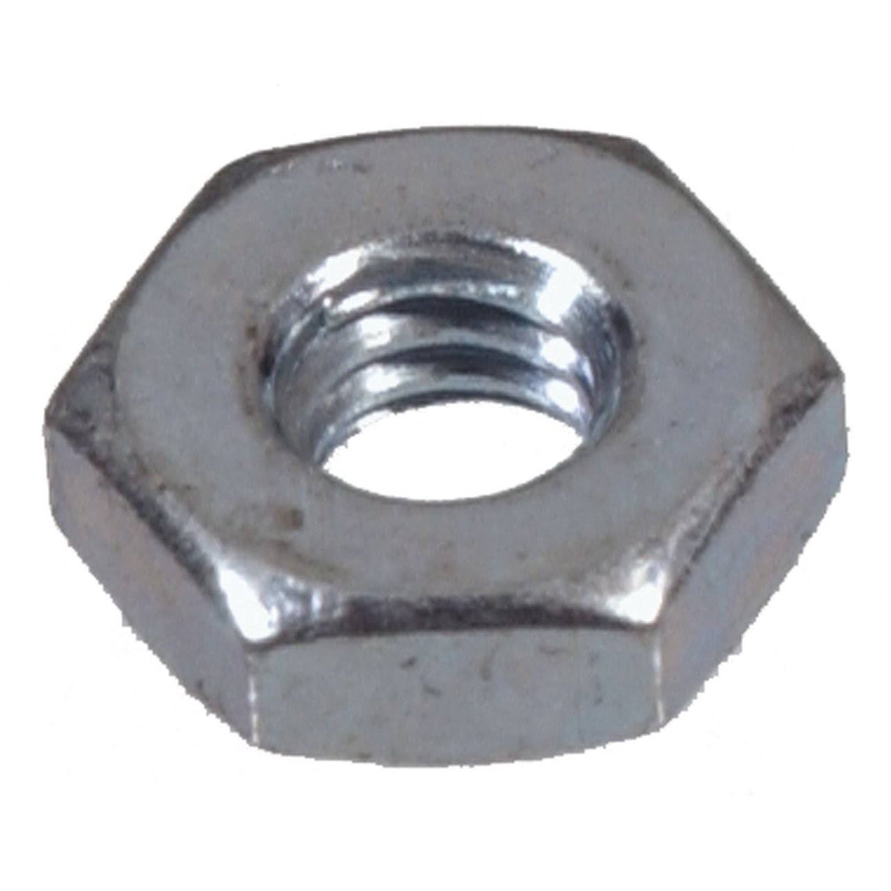 The Hillman Group Standard Hex Nuts - 100ct, #10-24 Zinc Plated