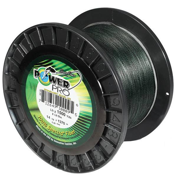 Power Pro Spectra Fiber Braided Fishing Line - Green, 500yds