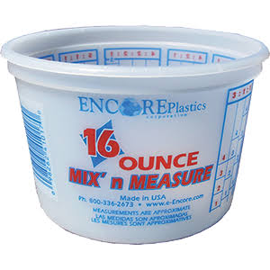 Encore Plastics Mix 'N Measure Container