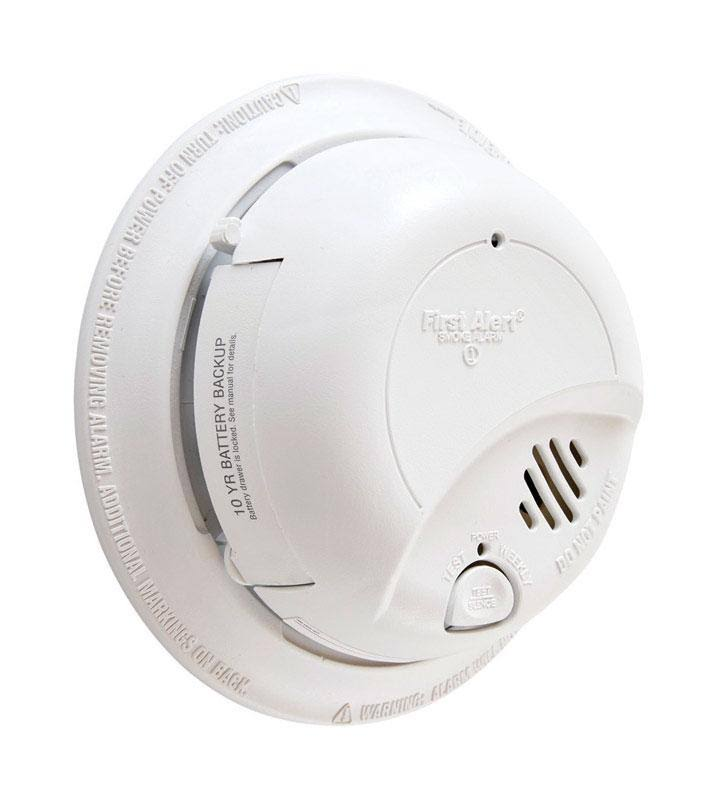 First Alert Hard-Wired Back-up Ionization Smoke Alarm - White, 120V