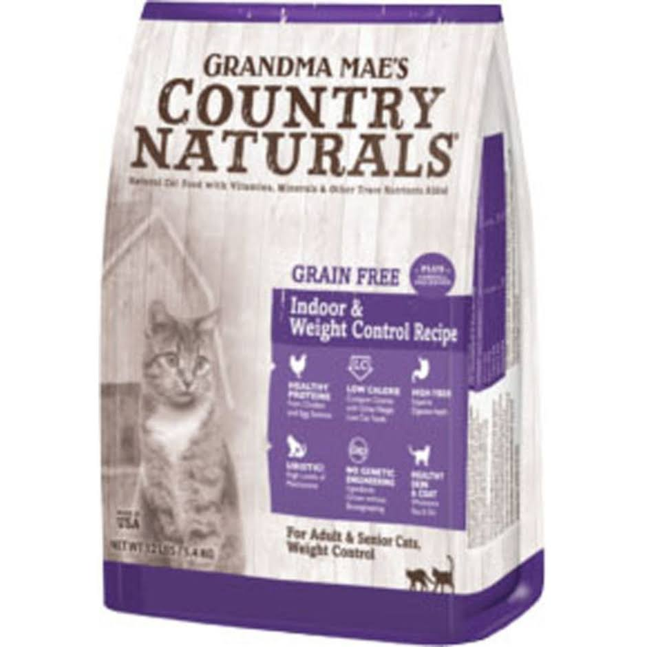 Grandma Mae S Country Nat - Country Naturals Grain Free Weight Control/Hairbal - 4 lb