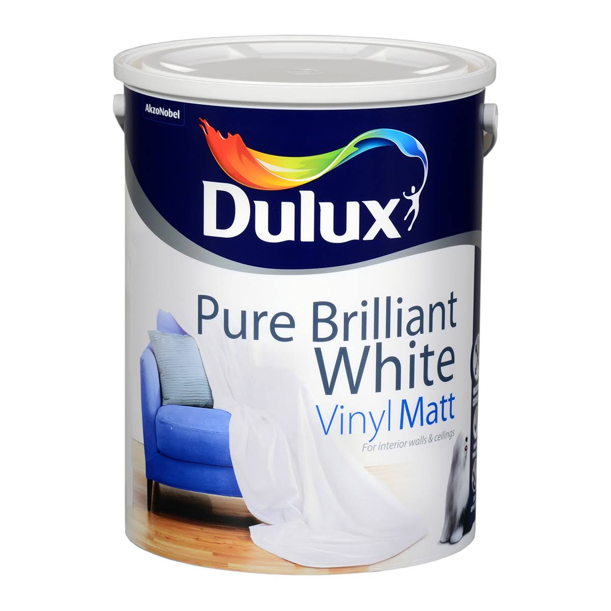 Dulux Vinyl Matt Colours Paint - White