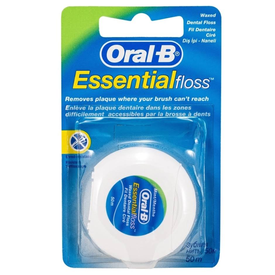 Oral-B Essential Floss - Unwaxed, 50m
