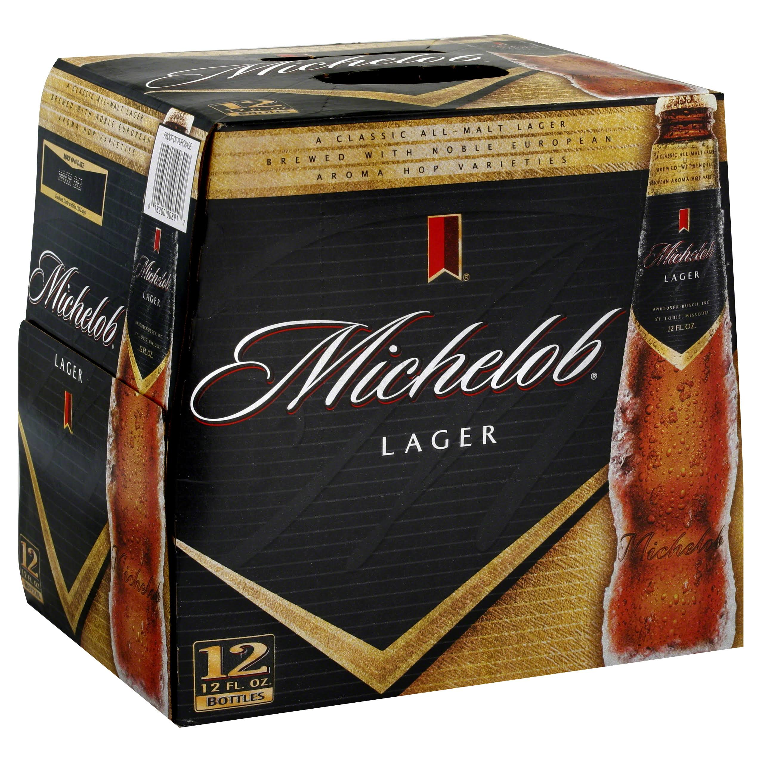 Michelob Lager - 12 Bottles