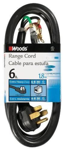 Woods 0762 Range and Dryer Appliance Cord - 1.8m, 6'