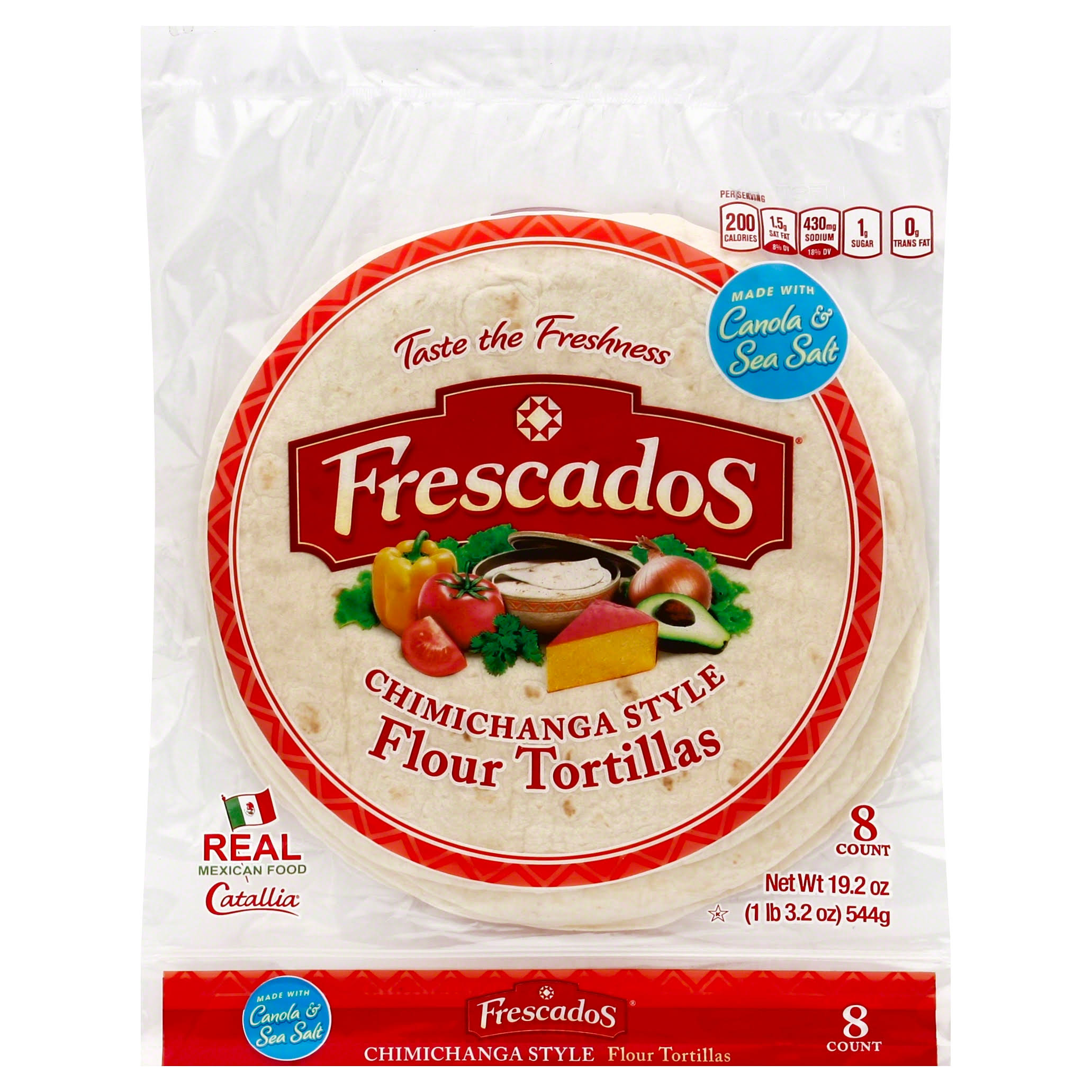 Frescados Tortillas, Flour, Chimichanga Style - 8 count, 19.2 oz