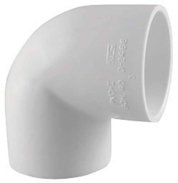 Charlotte Pipe & Foundry PVC023001800 3 in. Schedule 40 PVC 90 Deg Elbow