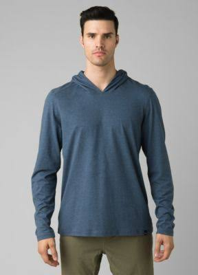 prAna Long Sleeve Hoodie - Men's M Denim Heather