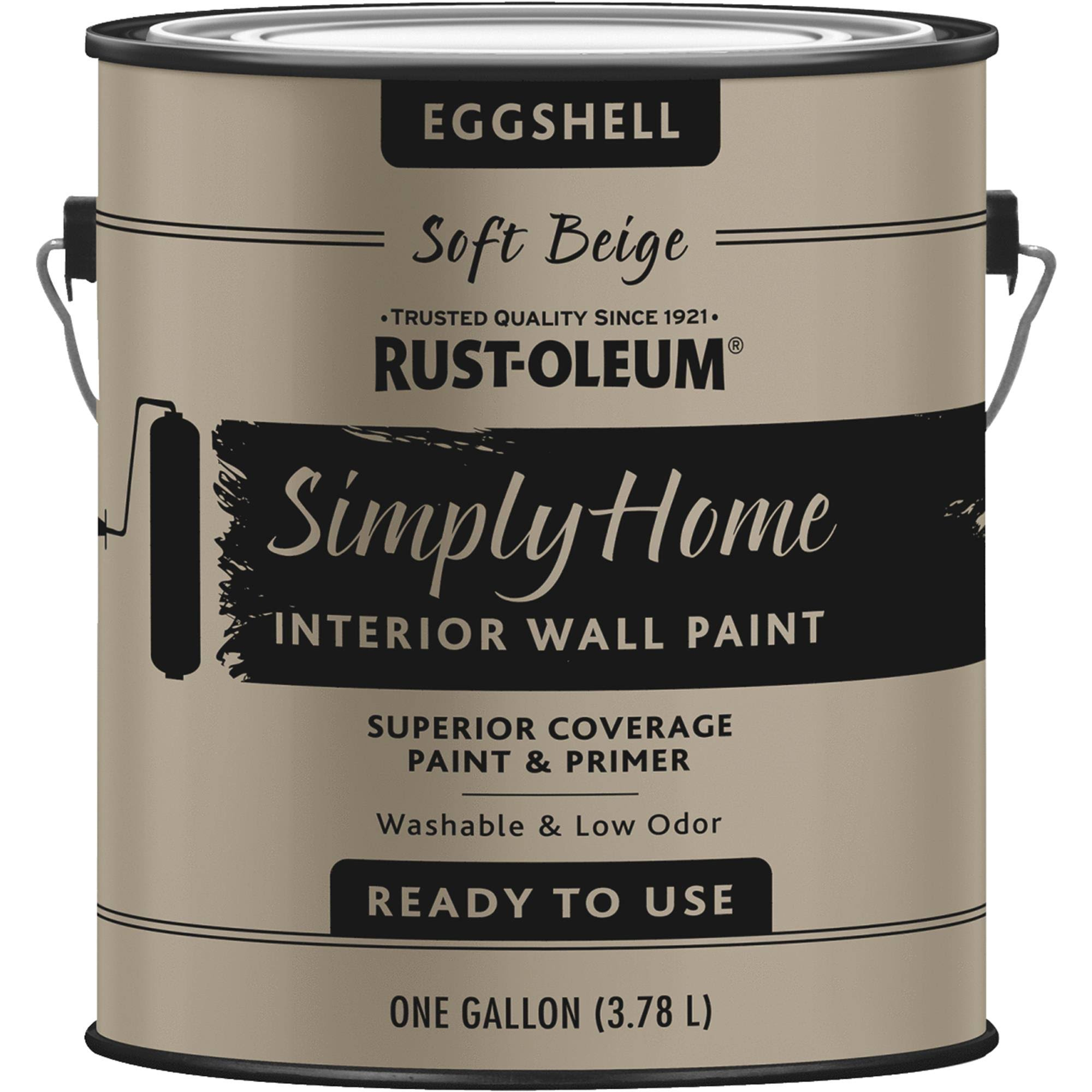 Rust-Oleum 332118 Simply Home Eggshell Soft Beige Interior Wall Paint Gallon