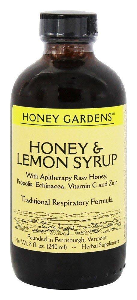 Honey Gardens Syrup - Honey & Lemon, 8oz