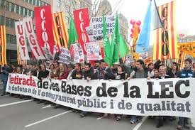 Manifestación contra la LEC