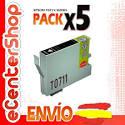 5 Cartuchos De Tinta Negra T0711 Non-oem Epson Stylus Sx400 Wifi